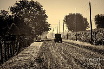 Photograph - Amish Sunday Going To Church by David Arment
