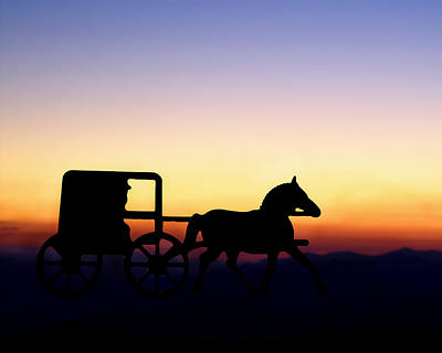 Digital Art - Amish Sunset by TnBackroadsPhotos