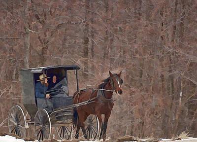 Amish Travels Art Print