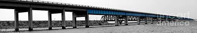 Amistad Lake Bridge Art Print