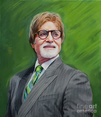 Amitabh Painting - Amitabh Bachchan Portrait 2 by Dominique Amendola