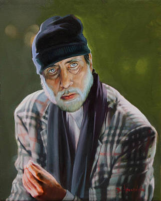 Amitabh Painting - Amitabh Bachchan Portrait by Dominique Amendola