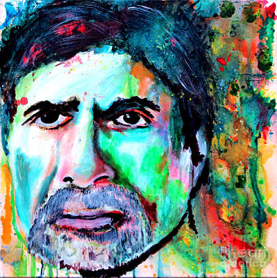Amitabh Bachchan Watercolor By Minesh Pankhania Original