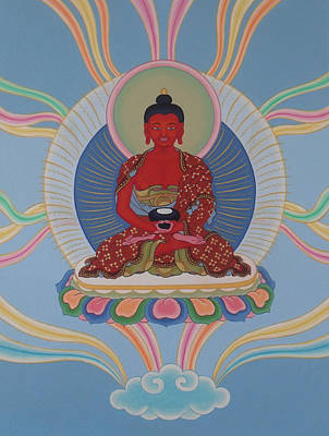 Tibetan Buddhism Painting - Amitabha by Andrea Nerozzi