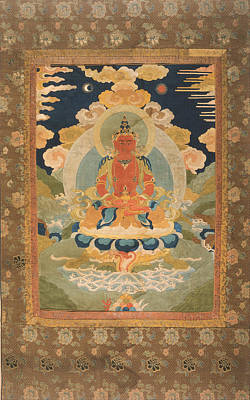 Amitayus - The Bodhisattva Of Limitless Life Art Print by Tilen Hrovatic