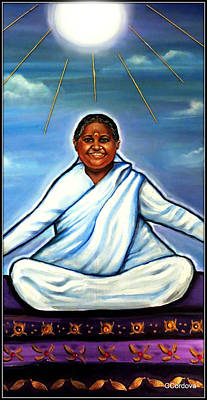 Spiritual Portrait Of Woman Mixed Media - Amma -the Hugging Saint by Carmen Cordova