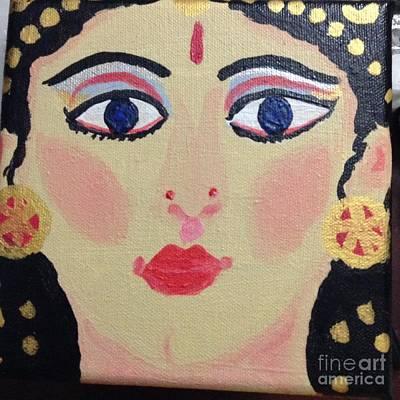 Amma Painting - Amma Varu by Uma Pochampalli