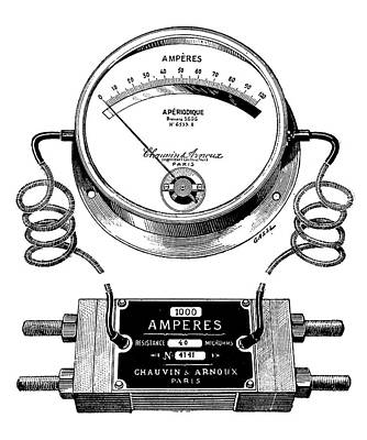 Ammeter And Shunt Print by Science Photo Library