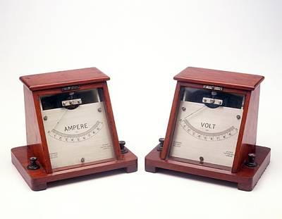 Ammeter And Voltmeter Print by Dorling Kindersley/uig