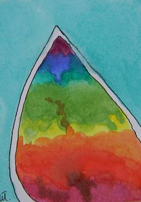 Ammolite Painting - Ammolite Rainbow  by Warren Thompson