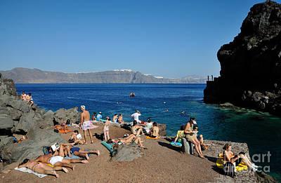 Photograph - Ammoudi Beach by George Atsametakis