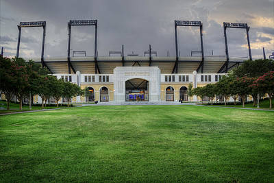 University Photograph - Amon G Carter Stadium Tcu by Joan Carroll