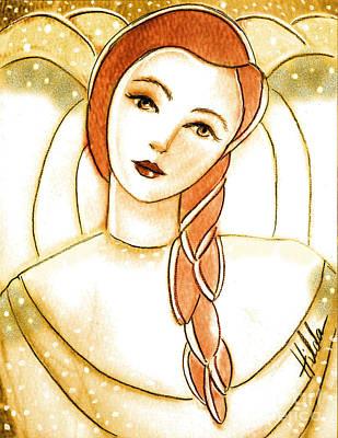 Painting - Among Angels by Hilda Lechuga