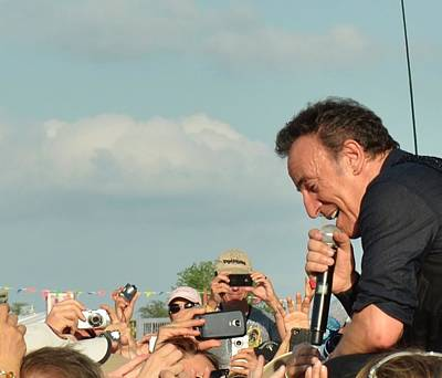 Bruce Springsteen Photograph - Among The Crowd by William Morgan