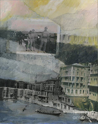 Wall Art - Painting - Among The Gondolas by Ellen Moore Osborne