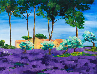 Fauvist Painting - Among The Lavender by Elise Palmigiani