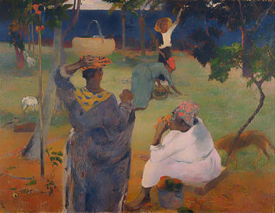 Martinique Painting - Among The Mangoes In Martinique by Mountain Dreams
