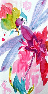 Among The Peonies Art Print by Beverley Harper Tinsley
