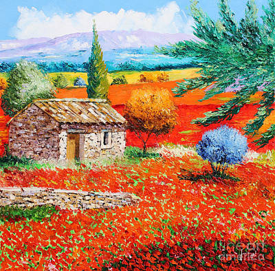 Among The Poppies Art Print by Jean-Marc Janiaczyk