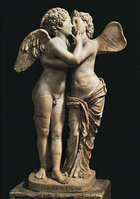 Amor And Psyche. 1st C. Hellenistic Art Print by Everett