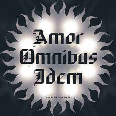 Digital Art - Amor Omnibus Idem by Derek Gedney