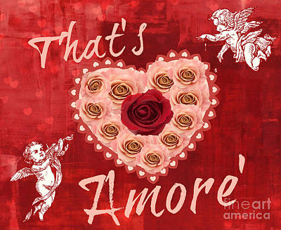 Amore Valentine Art Print by Mindy Bench
