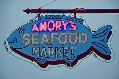 Amory Seafood Sign Art Print