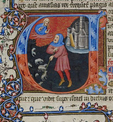 Bible Photograph - Amos Tending His Sheep by British Library