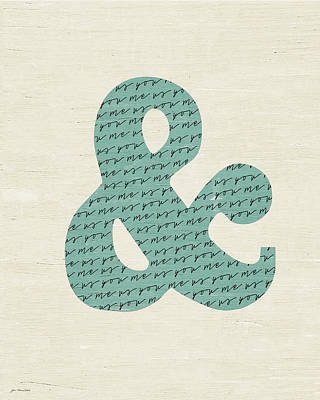 Ampersand Painting - Ampersand by Jo Moulton