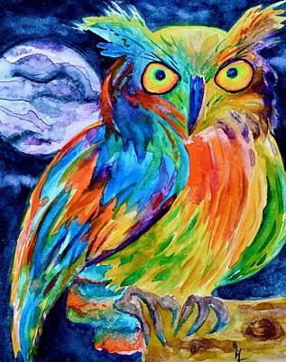 Ampersand Owl Art Print by Beverley Harper Tinsley
