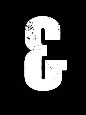 Famous Digital Art - Ampersand Poster  3 by Naxart Studio