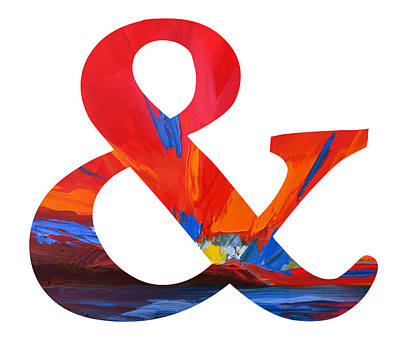 Painting - Ampersand Symbol Art No. 1 by Patricia Awapara