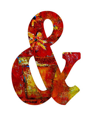 Ampersand Painting - Ampersand Symbol Art No. 2 by Patricia Awapara