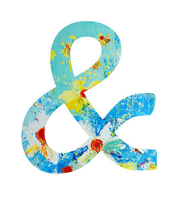 Ampersand Painting - Ampersand Symbol Art No. 3 by Patricia Awapara
