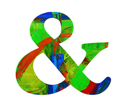 Ampersand Painting - Ampersand Symbol Art No. 4 by Patricia Awapara