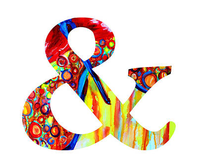 Ampersand Painting - Ampersand Symbol Art No. 5 by Patricia Awapara