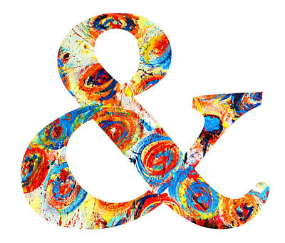 Painting - Ampersand Symbol Art No. 6 by Patricia Awapara