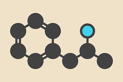 Amphetamine Molecule Art Print by Molekuul