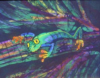 Tapestry - Textile - Amphipia I by Kay Shaffer