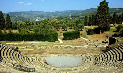 Photograph - Amphitheater In Fiesole Italy by Caroline Stella