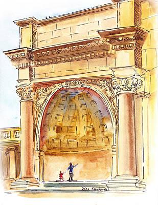 Golden Gate Park Painting - Amphitheater In Golden Gate Park San Francisco  by Irina Sztukowski