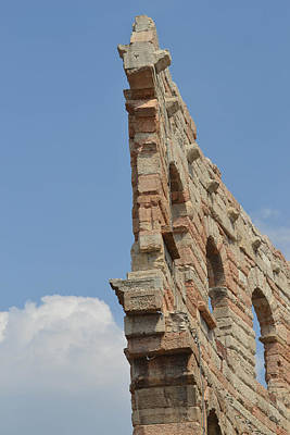 Wall Art - Photograph - Amphitheater Wall Verona by Bill Mock