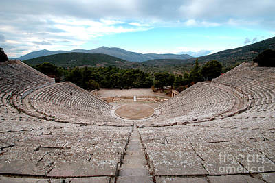 Amphitheatre At Epidaurus 2 Art Print