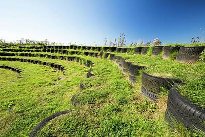 Mount Pleasant Photograph - Amphitheatre Built With Used Tyres by Ashley Cooper