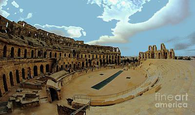 Amphitheatre Of El Jem Tunisia Art Print by Amalia Suruceanu