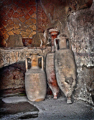 Italian Pottery Photograph - Amphora by Heather Applegate