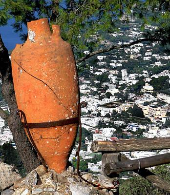 Amphora On Island Of Capri 1 Art Print