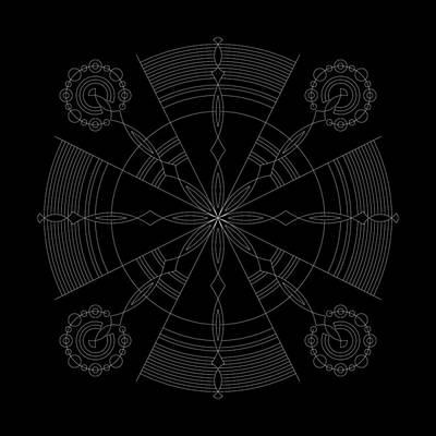 Mayan Digital Art - Amplitude Inverse by DB Artist