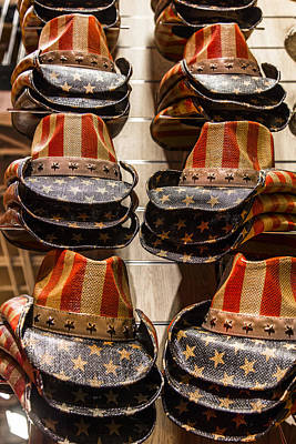 Photograph - Amrican Flag Hats In Color by John McGraw