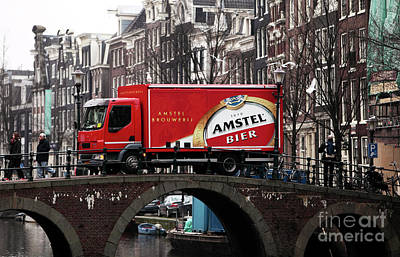 Old School Houses Photograph - Amstel Bier by John Rizzuto